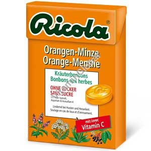 Sugar Free Orange Mint Lozenges 50g - Ricola