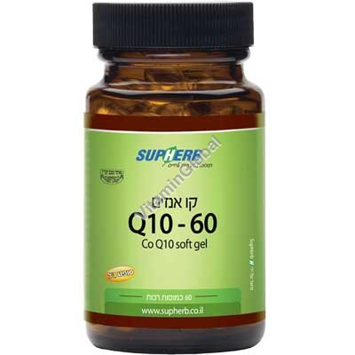 Kosher L\'Mehadrin Coenzyme CQ10 60mg 60 Softgels - SupHerb
