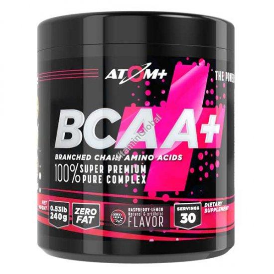 BCAA Powder Raspberry & Lemon Flavor 240g - Atom +