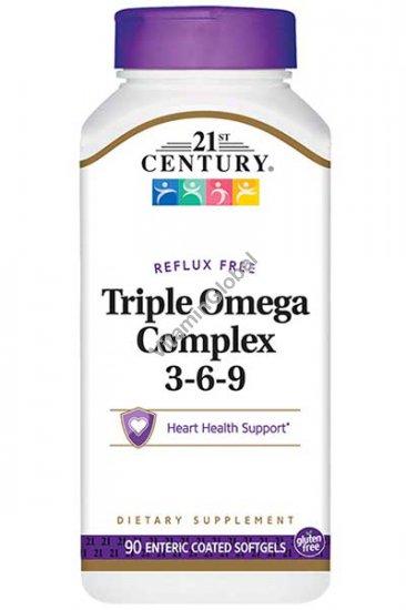 Triple Omega Complex 3-6-9 90 Softgels - 21st Century