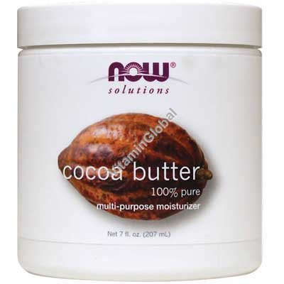 Natural Cocoa Butter 207 ml - Now Foods