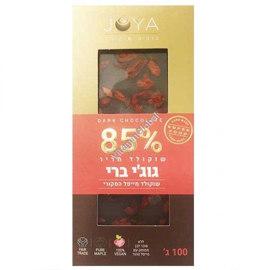 Handmade Dark Chocolate 85% Cocoa with Goji Berry100g - Joya