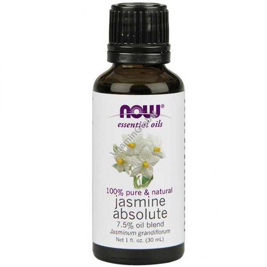 Jasmine Absolute 7.5% Oil Bland 30ml (1 fl oz) - Now Essential Oils
