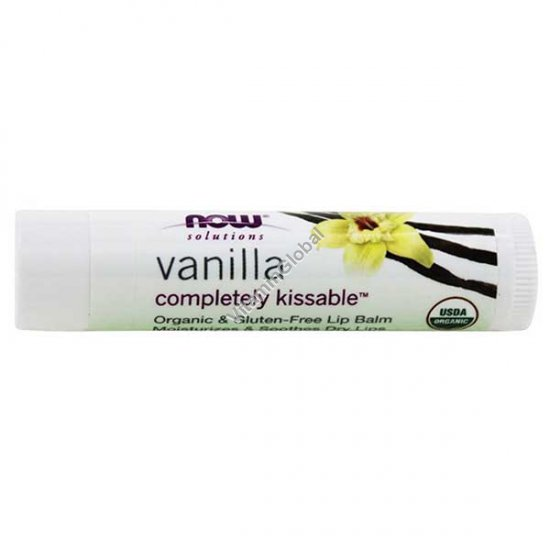 Organic Vanilla Lip Balm 4.25g - NOW Foods