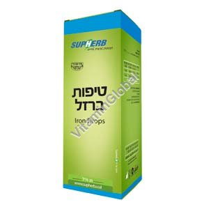 Kosher L\'Mehadrin Iron Drops 20 ml - SupHerb