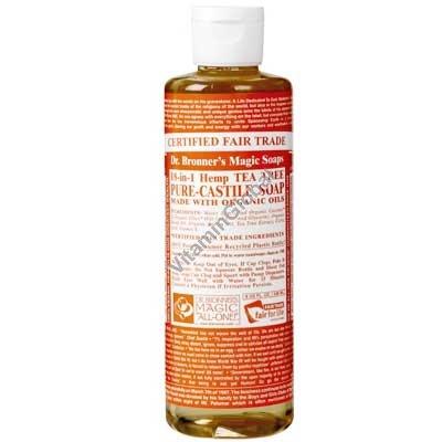 Tea Tree Liquid Soap 472ml (16 oz.) - Dr. Bronner
