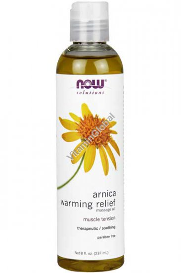 Arnica Warming Relief Massage Oil 237ml (8 fl. oz.) - Now Solutions