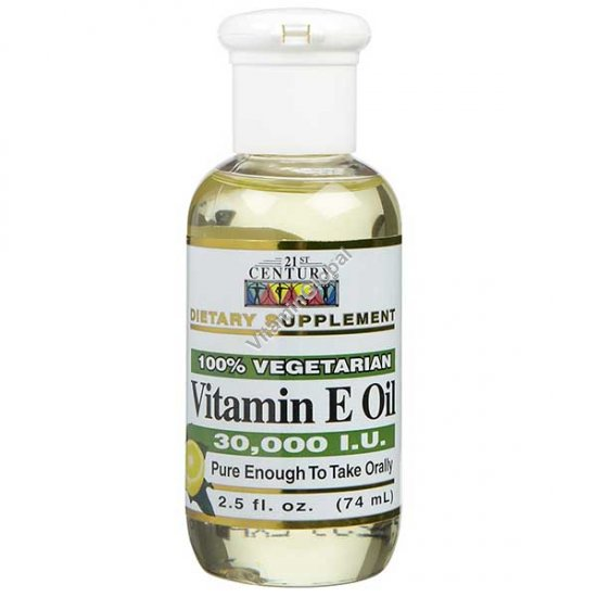 Liquid Vitamin E 74ml (2.5 fl. oz.) - 21st Century