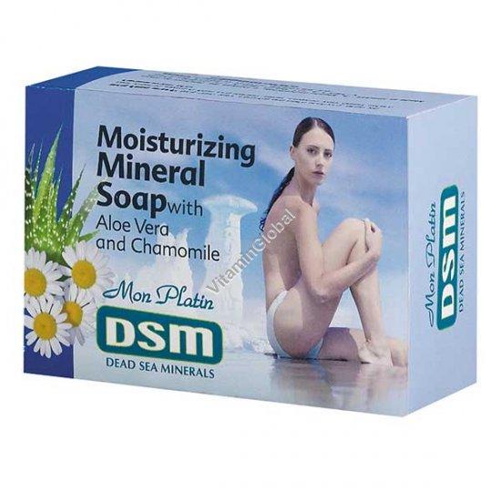 Moisturizing Mineral Dead Sea Soap with Aloe Vera & Chamomile 125g - Mon Platin DSM