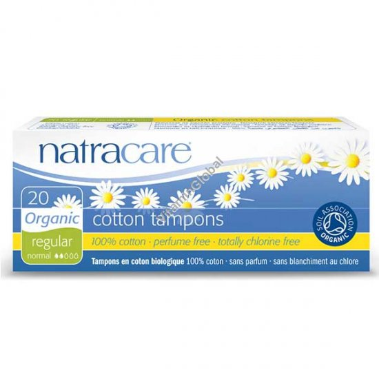 Organic Cotton Tampons, Regular 20 Count - Natracare