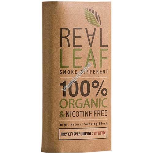 Organic & Nicotine Free Herbal Smoking Blend 30g - Real Leaf