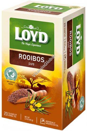 Rooibos Pure Herbal Tea 20 tea bags - Loyd
