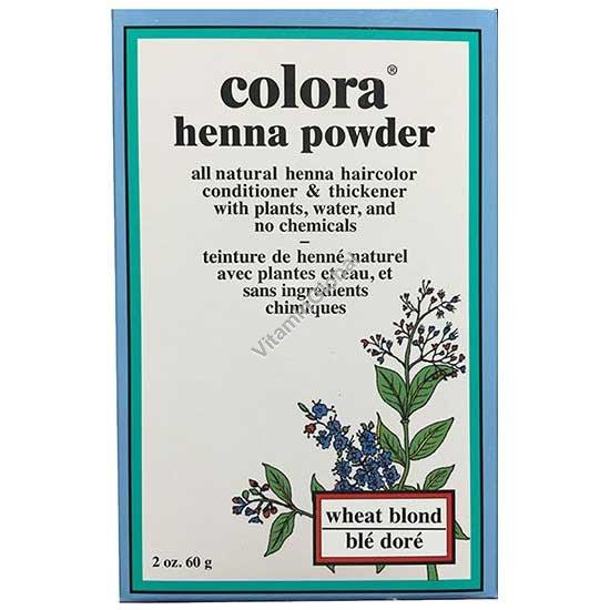 Henna Powder Wheat Blonde 60g (2 oz.) - Colora