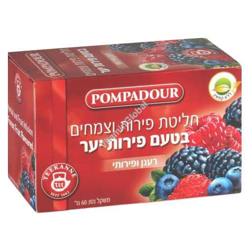 Forest Fruit Infusion 20 tea bags - Pompadour