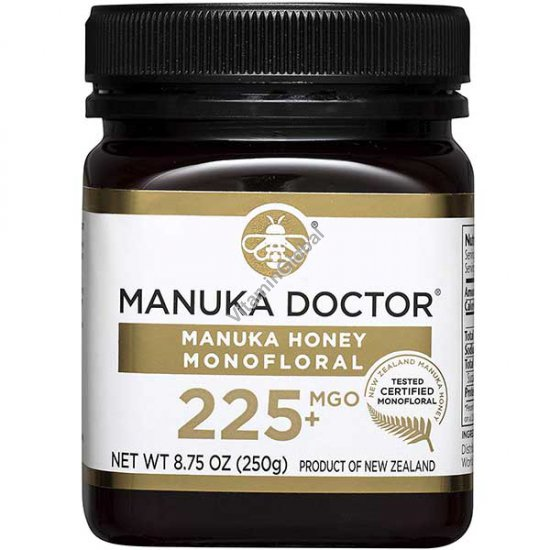 Manuka Honey Monofloral, MGO 225+, 8.75 oz (250 g) - Manuka Doctor
