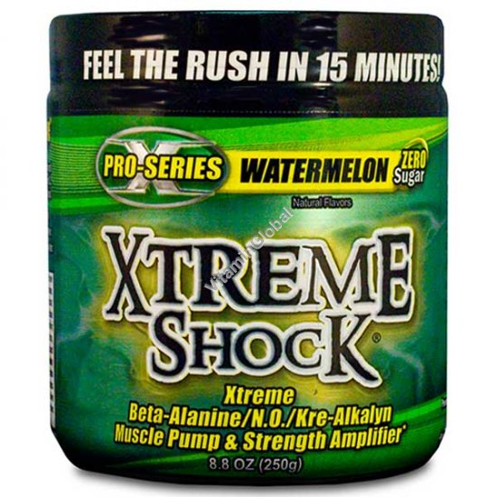 Xtreme Shock Pre-Workout Formula, Watemelon 250g - Ansi