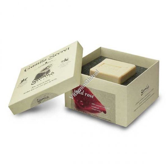 Handmade, 100% Natural Wild Rose Soap Bar 115g - Gamila Secret