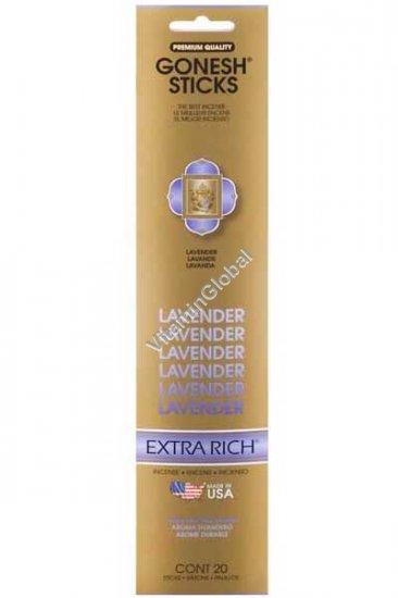 Lavender Incense Sticks 20 count - Gonesh Sticks