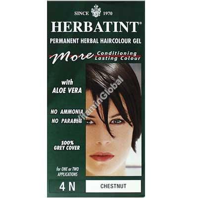 Permanent Haircolour Chestnut 4N - Herbatint