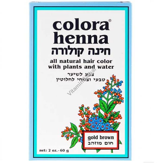 Henna Powder Gold Brown 60g (2 oz.) - Colora