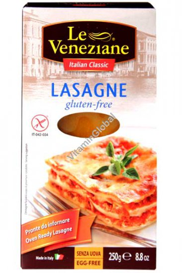 Corn & Rice Gluten Free Lasagne Sheets, 250g - Le Veneziane