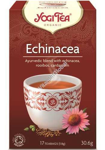 Organic Ayurvedic Blend with Echinacea, Rooibos, Cardamom 17 teabags - Yogi Tea