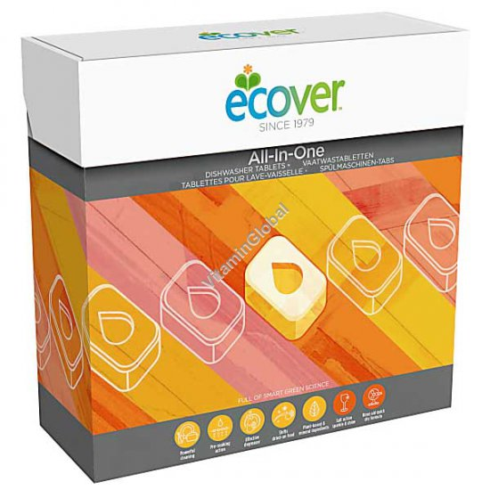 Biodegradable All-In-One Dishwasher Tablets 25 tablets - Ecover