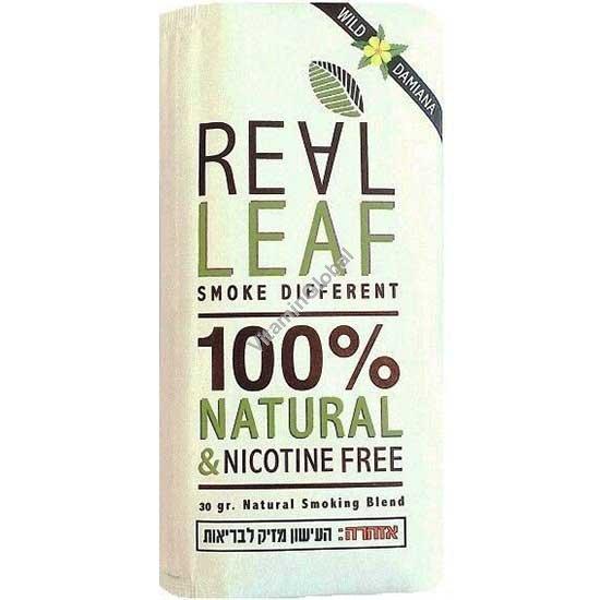 Natural & Nicotine Free Herbal Smoking Blend with Wild Damiana 30g - Real Leaf