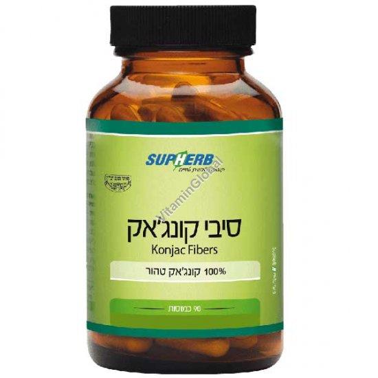 Kosher L\'Mehadrin Konjac Fibers 90 capsules - SupHerb