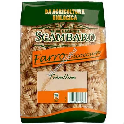 Organic Spelt Fusilli 500g - Sgambaro
