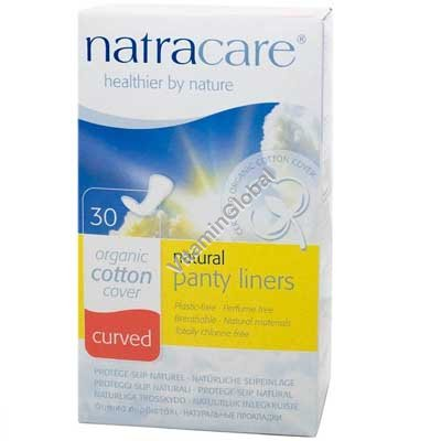 Organic Cotton Curved Panty Liners 30 pcs - Natracare
