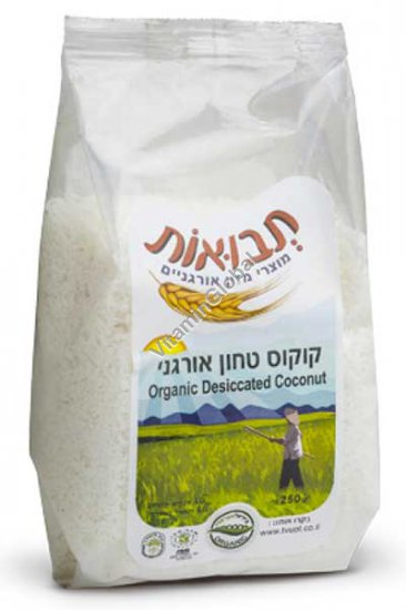 Organic Desiccated Coconut 250g - Tvuot
