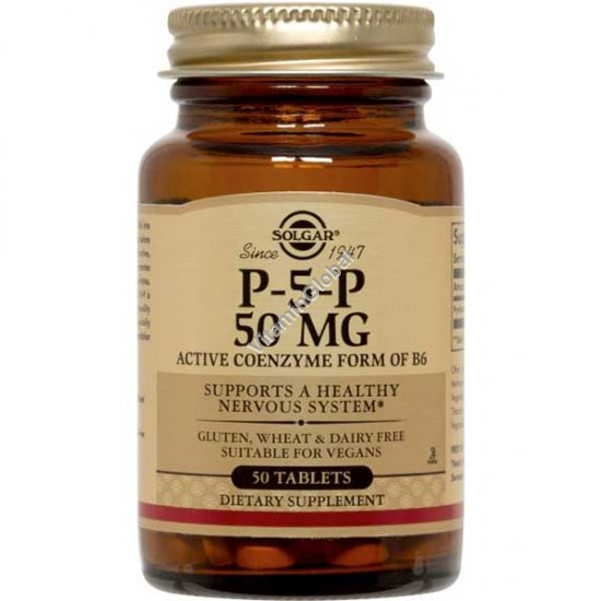 P-5-P Pyridoxal-Phosphate 50 mg 50 tablets - Solgar