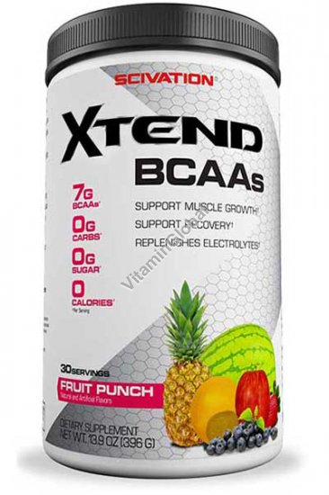 Xtend, BCAAs, Fruit Punch 13.9 oz (396g) - Scivation