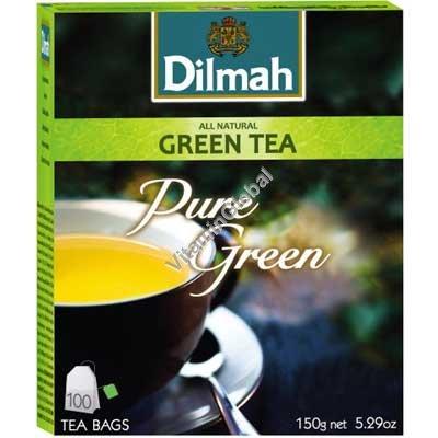 Pure Green Tea 100 tea bags - Dilmah