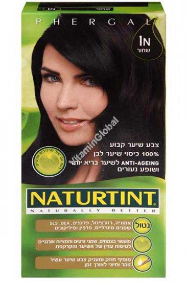 Permanent Hair Color 1N Ebony Black - Naturtint