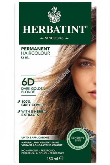 Permanent Haircolour Dark Golden Blonde (6D) - Herbatint