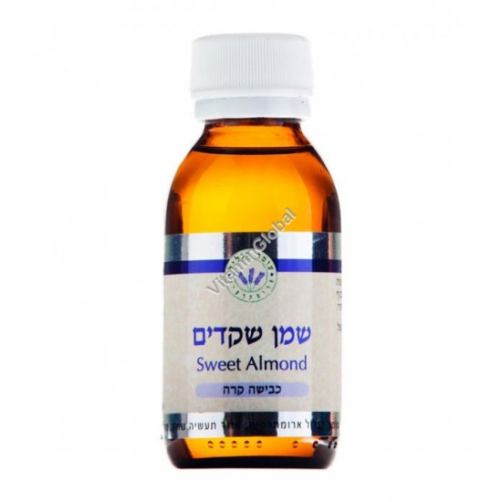 Cold Pressed Sweet Almond Oil 100 ml - Omer HaGalil