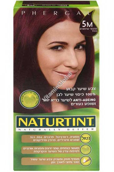 Permanent Hair Color 5M Light Mahogany Chestnut - Naturtint
