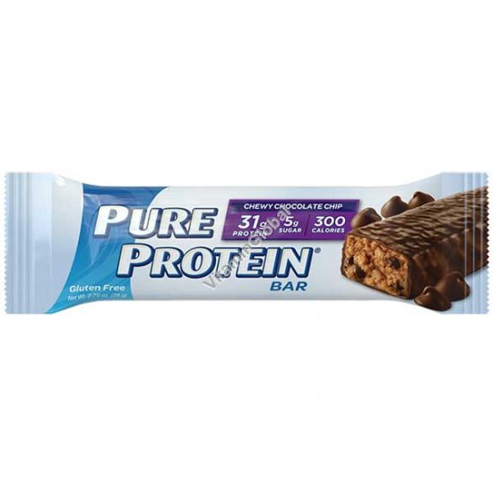 Gluten Free Pure Protein Bar Chewy Chocolate Chip 78g - WorldWide