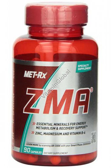 ZMA for energy metabolism & recovery support 90 capsules - Met-Rx