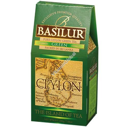 "Premium Pure Ceylon Green Tea ""The Island of Tea"" 100g - Basilur"