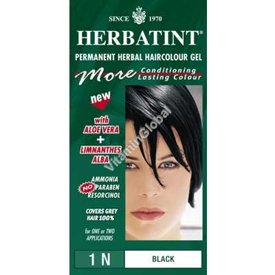 Permanent Hair Colour Black 1N - Herbatint