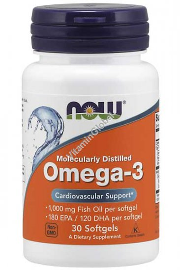 Omega 3 30 Softgels - Now Foods