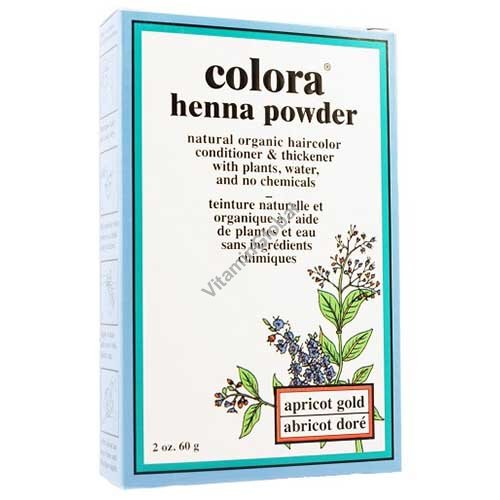 Henna Powder Apricot Gold 60g (2 oz.) - Colora