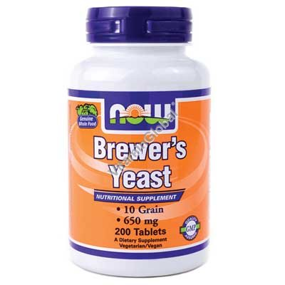 Brewer\'s Yeast 650 mg 200 tabs - Now Foods