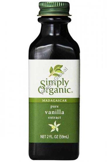 Organic Madagascar Pure Vanilla Extract 59 ml - Simply Organic