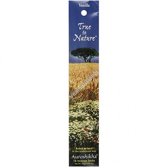 Vanilla Natural Incense 16 Sticks - Auroshikha