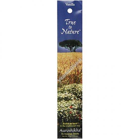 Vanilla Natural Incense 16 Sticks - Auroshikha
