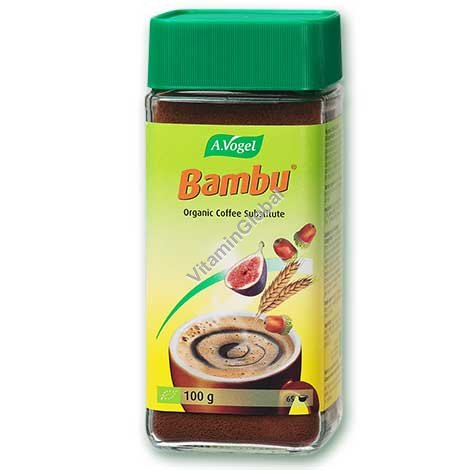 Organic Instant Coffee Substitute, Fruit & Grain Coffee Bambu 100g - A.Vogel